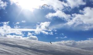 Utah Snowkiting video