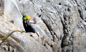High Sierra rock climbing video