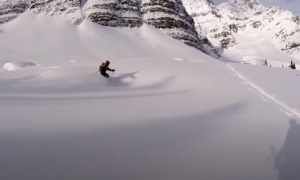 Banff backcountry skiing video