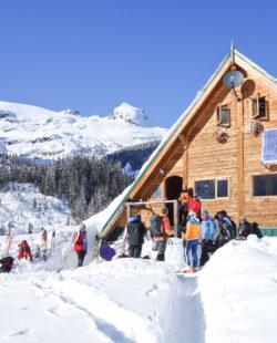Burnie Glacier Chalet Backcountry Skiing