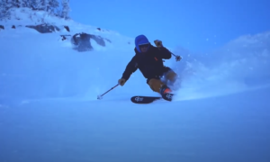 Cotton Canyons backcountry skiing video