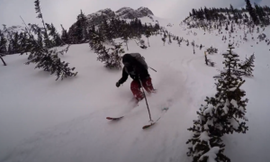 Kananaskis Country backcountry skiing video