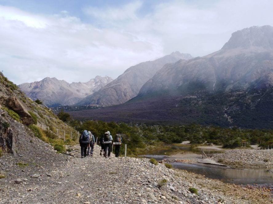 El Chalten Paso del Cuadrado hiking