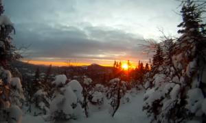 Adirondacks backcountry skiing video