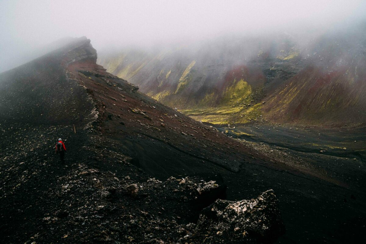 Hidden Trails of Iceland Volcano - black sands and green moss
