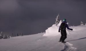 Golden backcountry skiing video