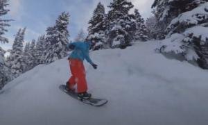 Lake Louise backcountry skiing video