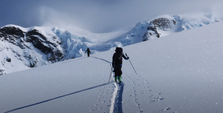 New Zealand backcountry skiing video