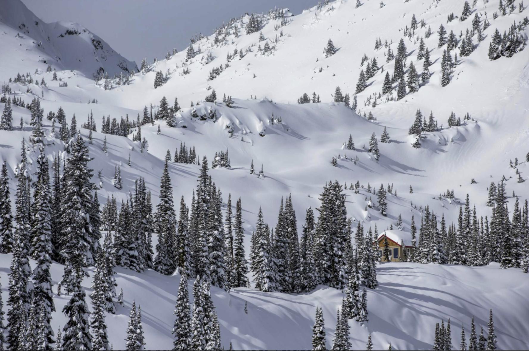 Sunrise Lodge backcountry skiing