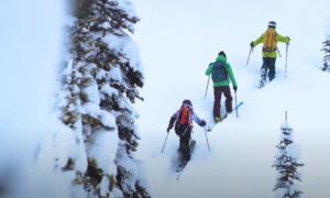 Sunrise Lodge backcountry skiing video