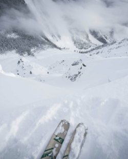 Vista Lodge backcountry skiing