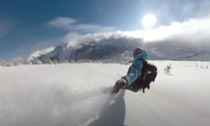 Vista Lodge Backcountry skiing video