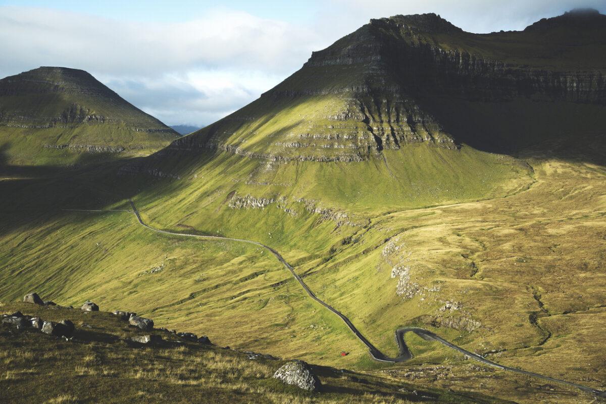 Overlooking the highest mountain in the Faroe Islands - Slættaratindur.