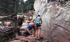 Colorado rock climbing video