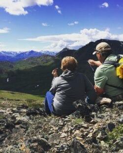 People hiking Denali National Park