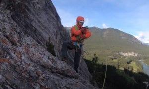 banff rock climbing video