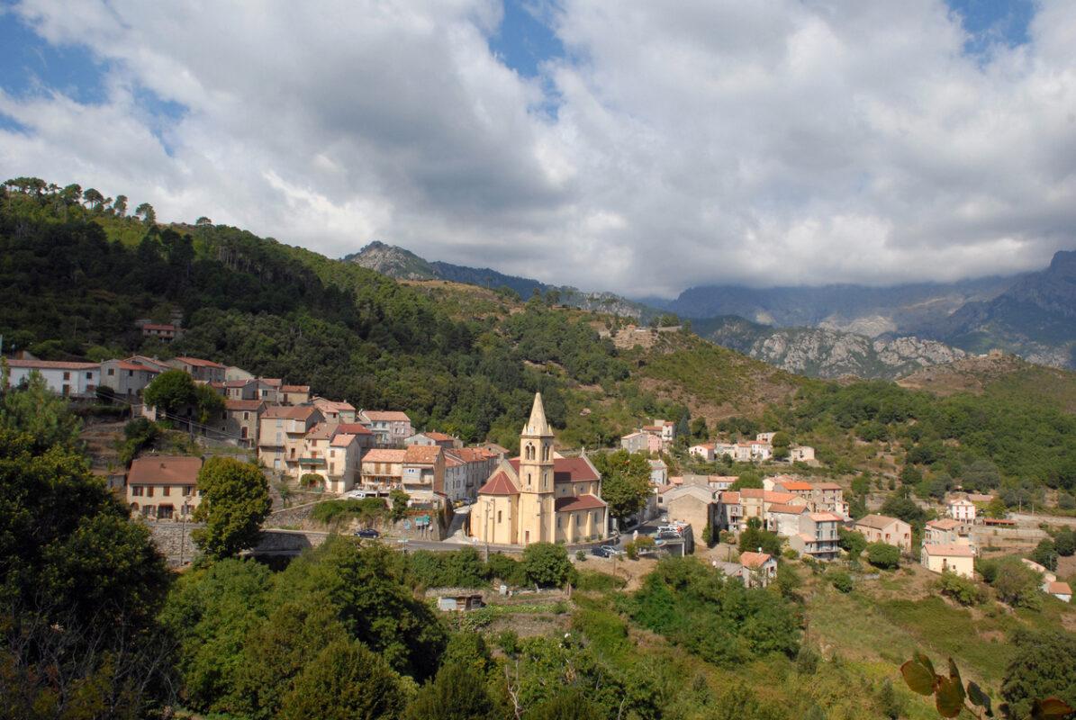 Village of Vizzavona in Corsica