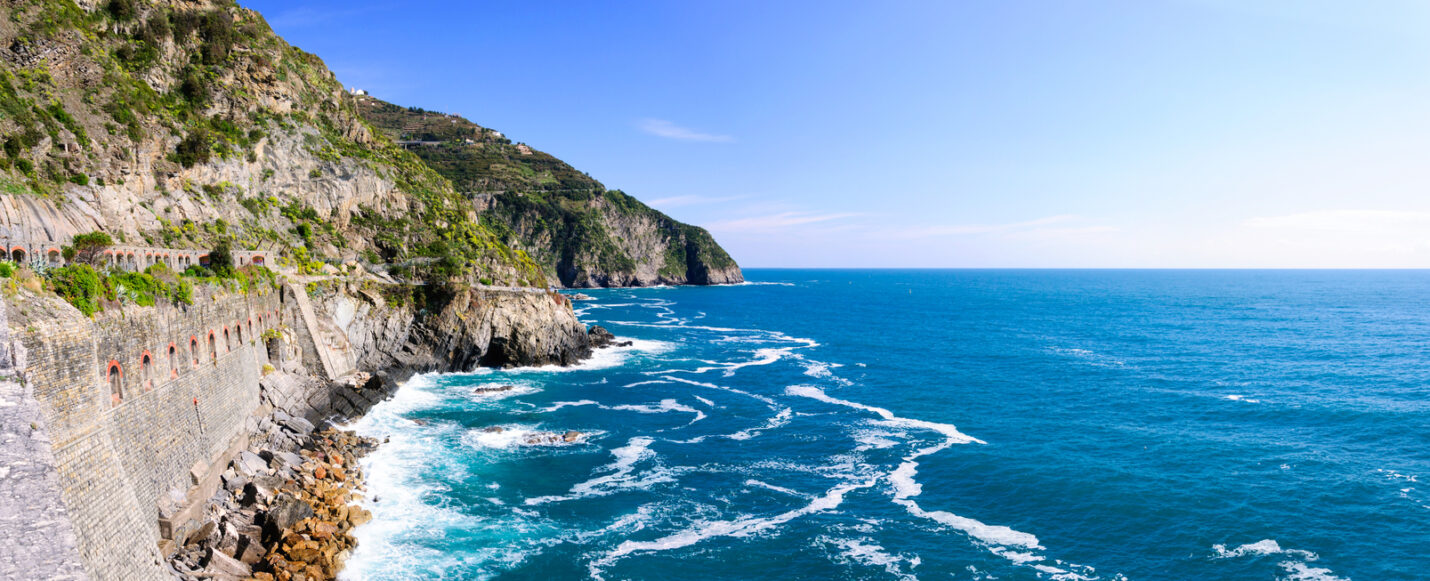 Via Del Amore - famous romantic walkway in Italy's Cinque Terre region of the Italian Riviera.