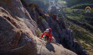 Lake Tahoe rock climbing video