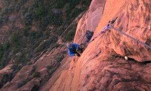 zion rock climbing video
