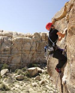Lead Rock Climbing in Joshua Tree
