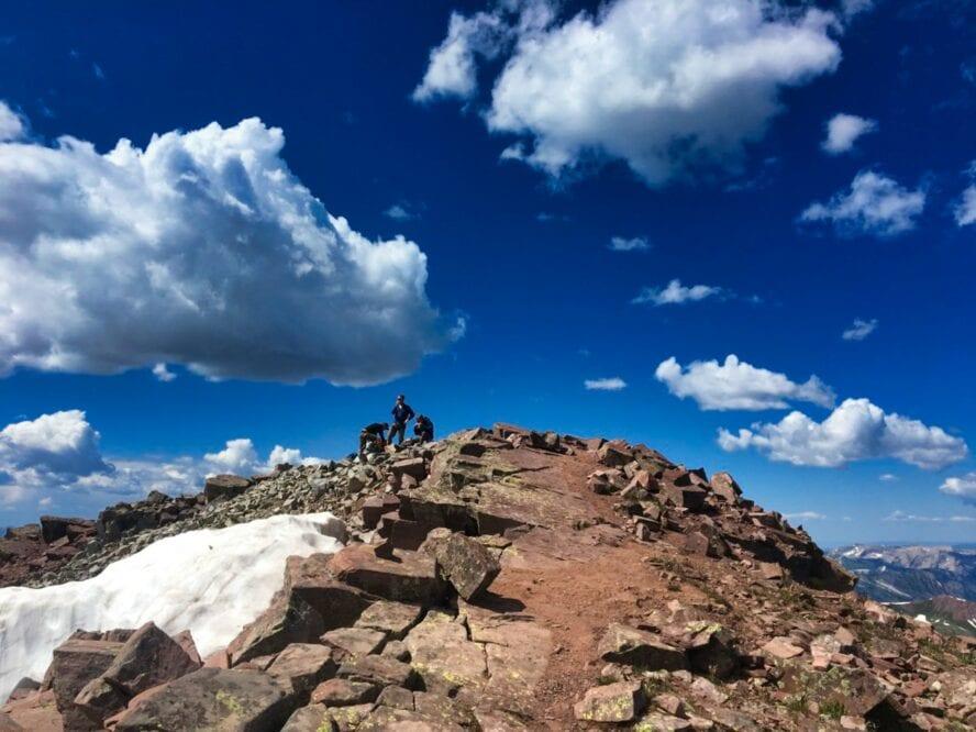 Rock climbing Maroon Bells
