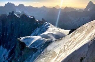 alpine climbing in chamonix