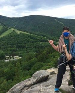 Rock Climbing in Franconia Notch