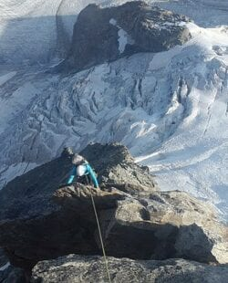 Alpine climbing in the Canadian Rockies