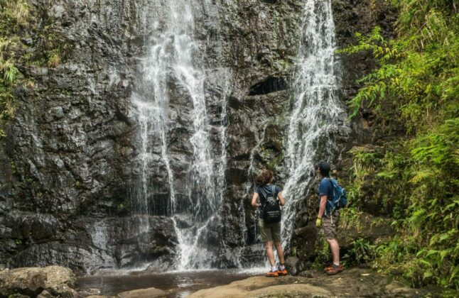 Hiking Oahu Three Waterfalls Tour
