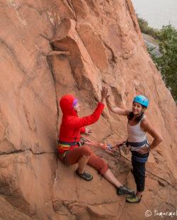 Rock Climbing in Moab, Utah