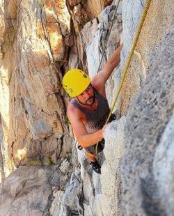 Rock Climbing in Mission Trails Regional Park, San Diego