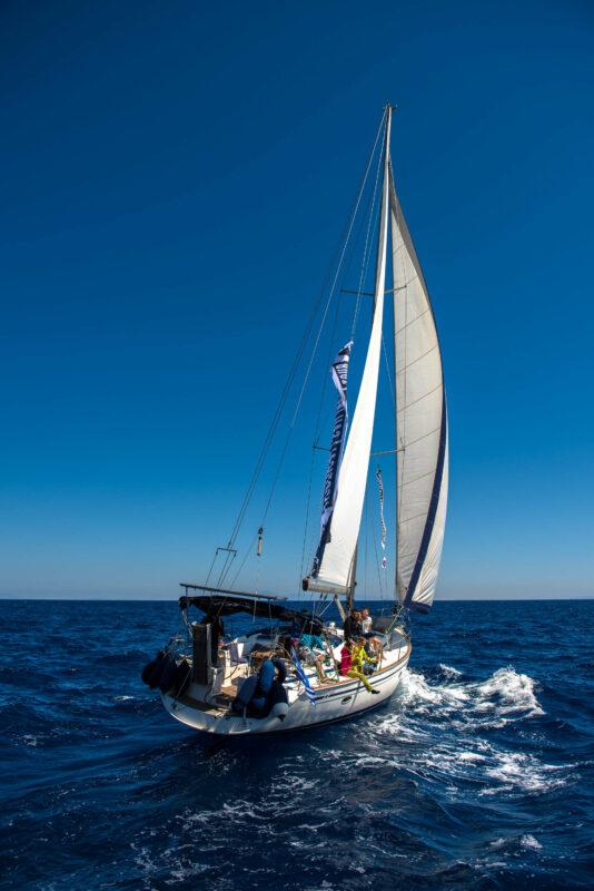 Rock climbing and sailing