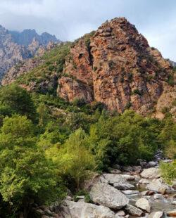 Asco river in Corsica mountain