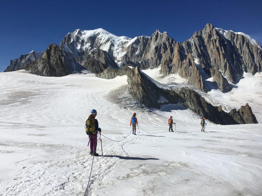Mont Blanc Rock Climbing