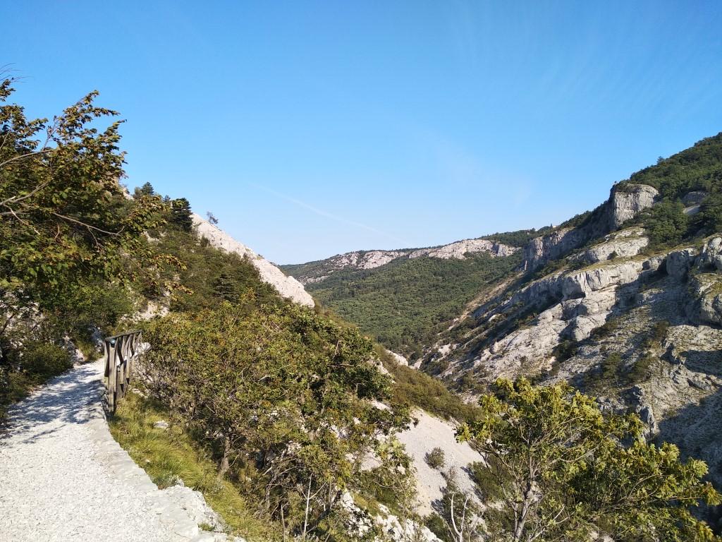 Panoramic view of Rosandra Valley Natural Reserve