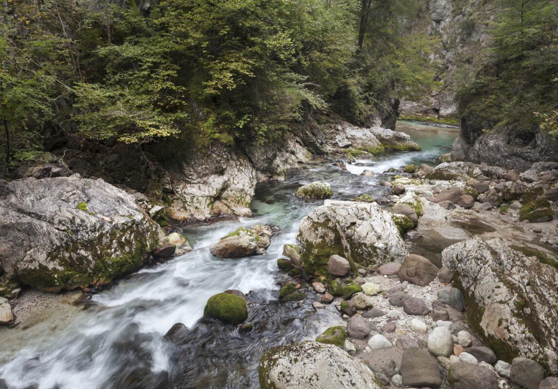 Schlucht in den italienischen Alpen