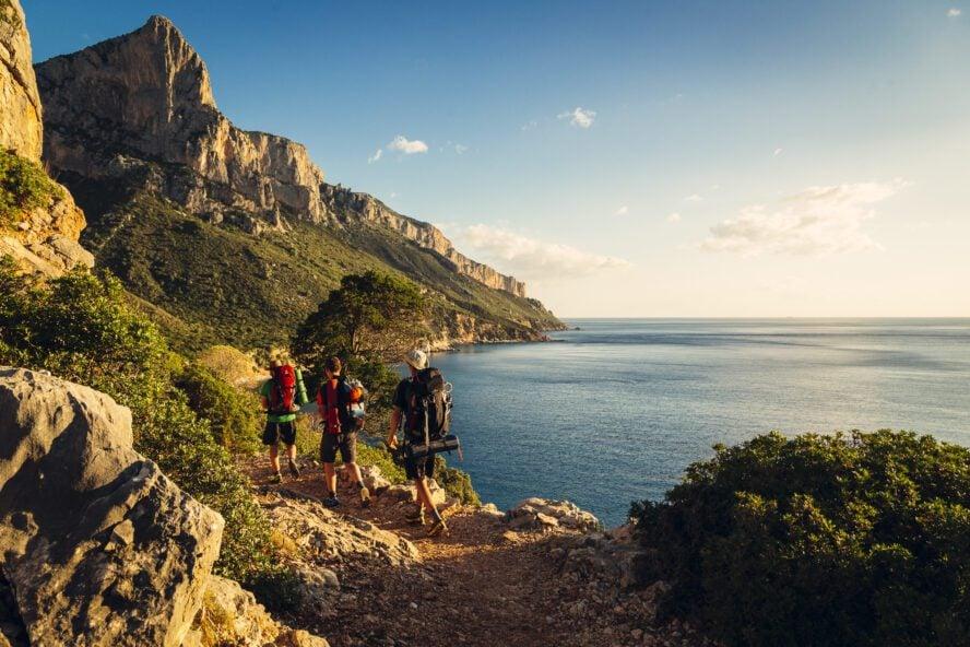 sailing rock climbing sardinia