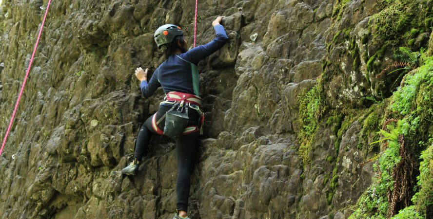 Climbing at French's Dome is sporty, slopey, juggy, crimpy, and pumpy, with a lot of moss to be expected