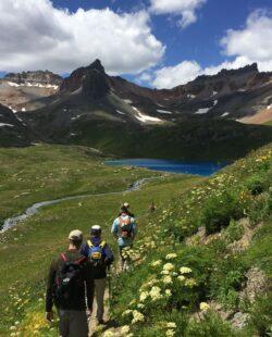 Hiking along a Telluride trail