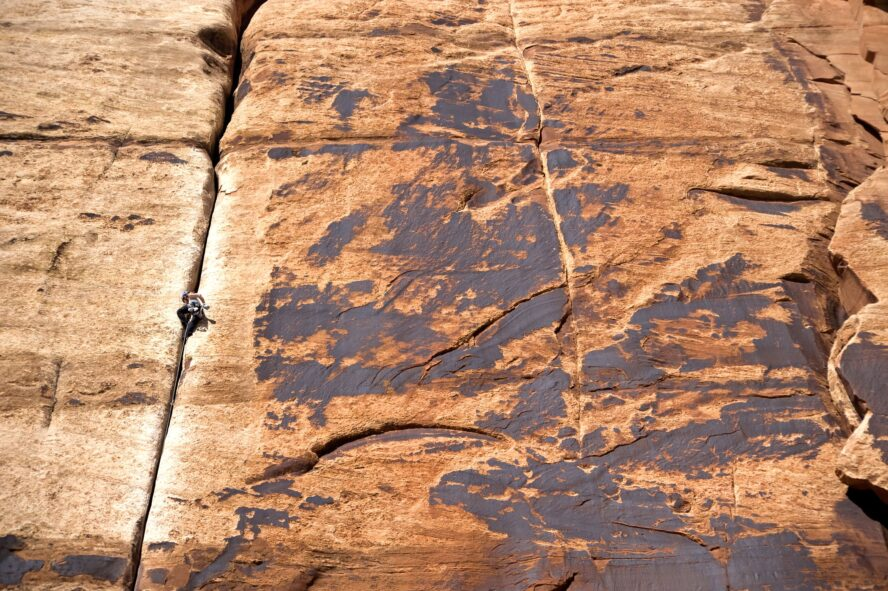 Impacts to the rock are visible on Generic Crack where the outside patina has worn away around the edges.