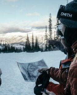 Navigating the snowy terrain