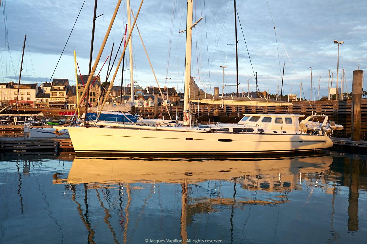 Sailboat anchored in Longyearbyen