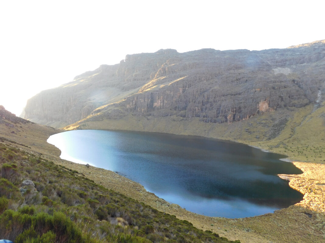 Spectacular Lake Michaelson accessible through Chogoria route in Mt Kenya