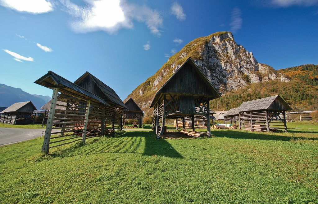 Traditional barn in Bohinj
