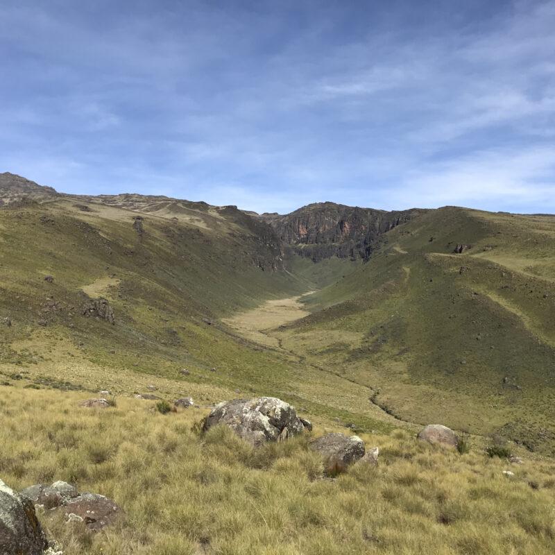 Beautiful green valleys along the Chogoria trail