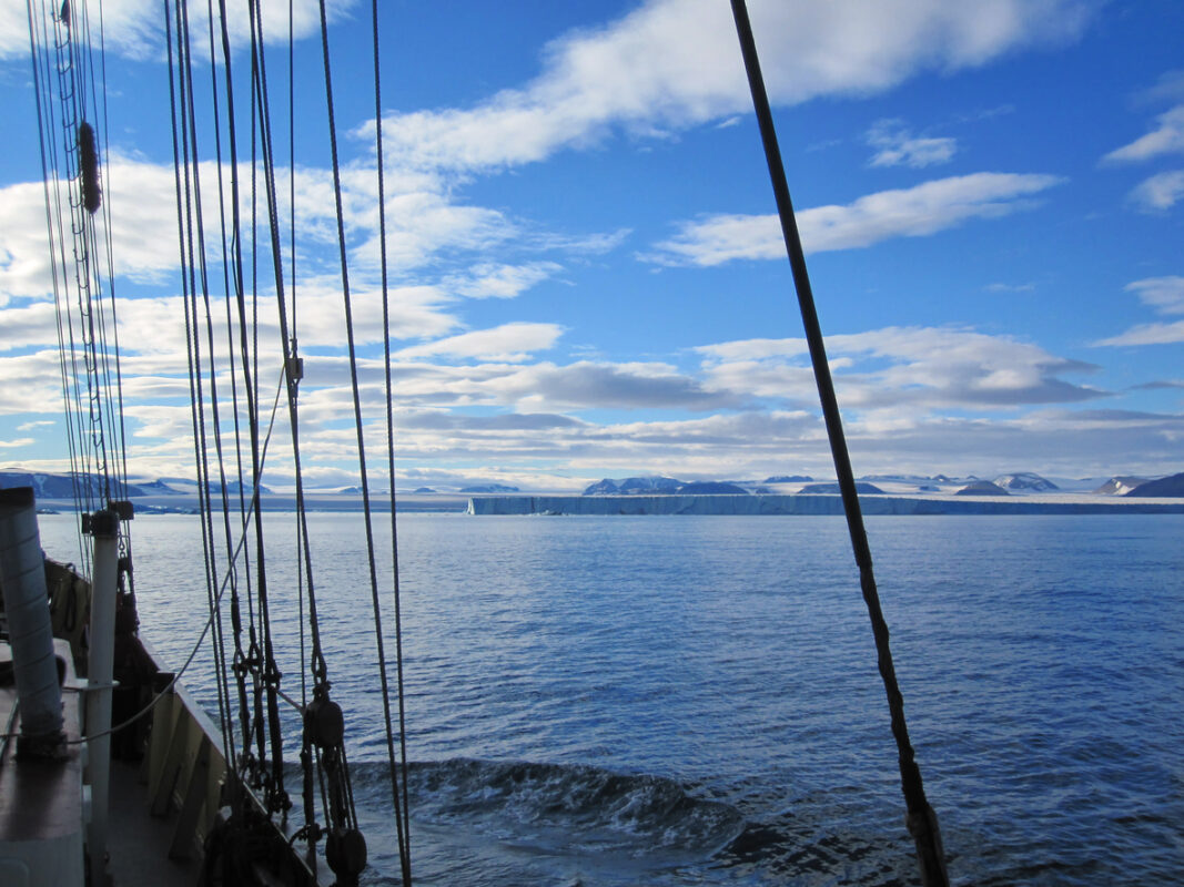 Tallship sailing the Svalbard Coast