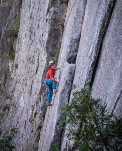 A climber in Potrero Chico