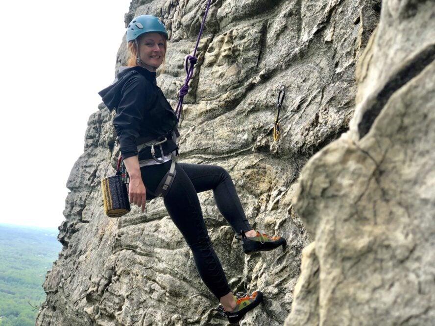 pilot mountain rock climbing