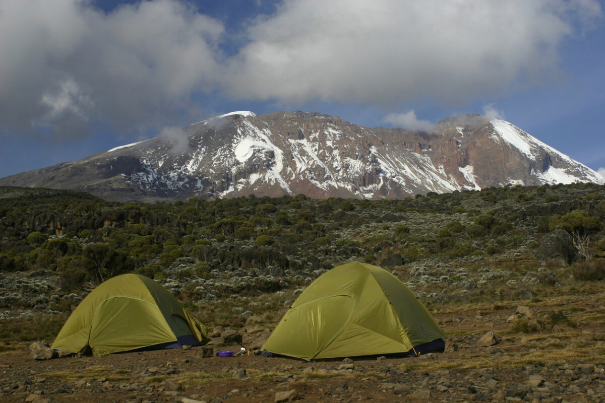 Taken June 2006, this is the camp site for the first night of hiking Kilimanjaro along the Machame route.